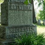 Grave marker for Rochester Orphan Asylum